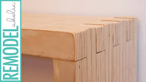 Plywood by Modern Plywood Bench With Lap Construction Youtube