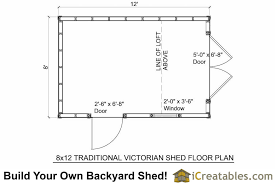 shed floor plan 8x12 traditional backyard shed plans icreatables