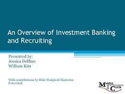 investment banking 101 f08