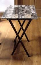 linon home decor tray table set faux marble brown linon kitchen table sets ebay