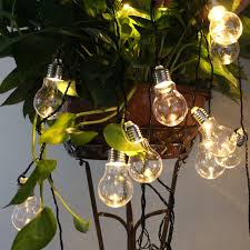solar powered outdoor light bulbs potenco solar powered led string lights with 10 20led g50 globe