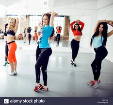 conceptmodern women doing sport in gym healthcare lifestyle people concept