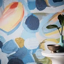 balloon dots mural wallpaper west elm