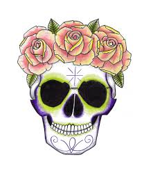 sugar skull clipart crown pencil and in color sugar skull clipart