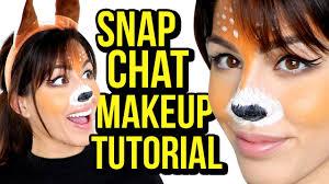 halloween makeup tutorial snapchat deer youtube