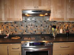 Rusty Brown Slate Mosaic Backsplash by Travertine Herringbone Slate Granite Mosaic Tiles Kitchen