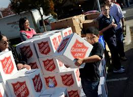 salvation army turkey giveaway 11 23 15