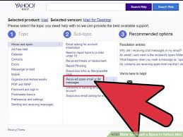 yahoo email junk mail how to report a spam in yahoo mail 13 steps with pictures