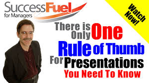 one rule powerpoint presentations there is only one rule of thumb worth