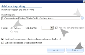 csv format outlook import import from ms outlook excel access via csv file sendblaster