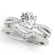 bridal sets rings diamond engagement ring band bridal set 14k white gold 1 32ct