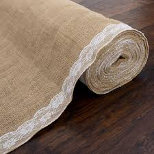 burlap wedding aisle runner lace burlap aisle runner for weddings