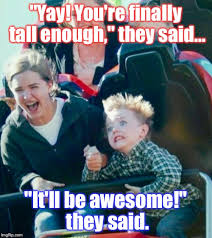 Roller Coaster Meme - me on my first roller coaster think i was like 8 imgflip