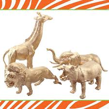 diy gold safari animals safari animal and jungle
