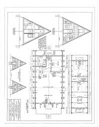 Floor Plan Blueprint Free A Frame Cabin Plans Blueprints Construction Documents Sds