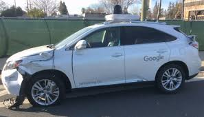 lexus company headquarters video shows google self driving car hit bus in silicon valley