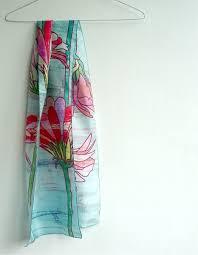 Pastel Colours Pastel Colours Silk Floral Scarf Imapico