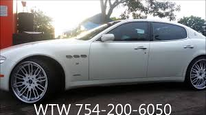 acewhips net wtw customs white maserati quattroporte on 22