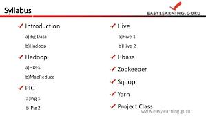 big data class big data hadoop by easylearning guru