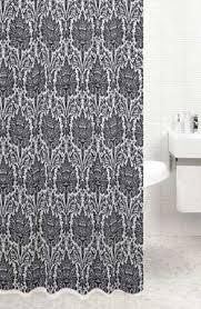 Vintage Style Shower Curtain Vintage Style Black Patterned Shower Curtain Amazon Co Uk