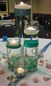 Beach Centerpieces For Wedding Reception by Differing Shades Of Teal Aqua U0026 Turqouise Represented The Colors