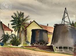california watercolor by ben norris artist