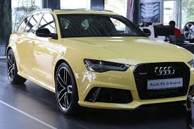 audi rs6 avant in toucan yellow costs u20ac113 900