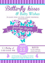 purple and teal baby shower invitations in addition to butterfly