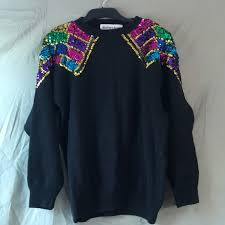 mardi gras sweater vintage vintage barbara sequin sweater mardi gras from