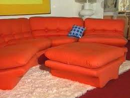 Orange Sofa Chair Pretty Ugly Furniture Jezzbean