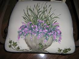 lynda bergman decorative artisan hand painted chair seat covers
