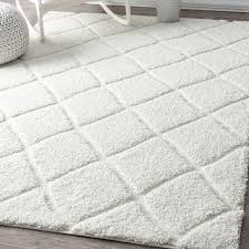 Plush Runner Rugs Nuloom Soft And Plush Moroccan Trellis White Shag Runner Rug 2 8