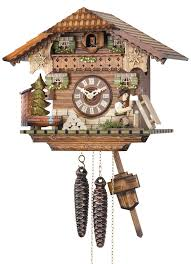 Chalet Style Cuckoo Clock 1 Day Movement Chalet Style 24cm By Hekas 1677 Ex