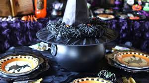 witch themed halloween decorations to create an ambience