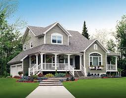 Farmhouse With Wrap Around Porch Plan 2141dr Three Charming Porches Porch Change And Country