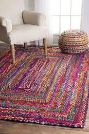Area Rugs With Purple Bungalow Rose Khan Hand Braided Multi Area Rug U0026 Reviews Wayfair