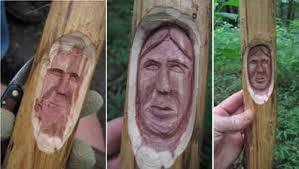 cedar wood sculpture wip indian from of cedar part 1 of 2 wood trails