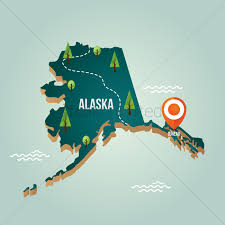 Alaska Map by Alaska Map With Capital City Vector Image 1536589 Stockunlimited