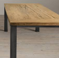 reclaimed oak table top we could make a knock off of this table it obviously wouldn t be as