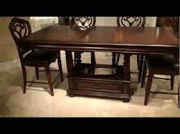 American Drew Dining Room Furniture by Barrington House Rectangular Counter Height Pedestal Dining Table