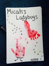 infant room handprint u0026 footprint art l is for ladybugs infant