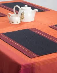 buy fabindia black cotton tanka woven table mat set of 6 online