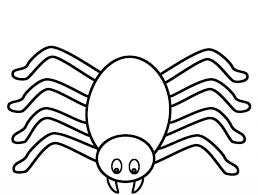 coloring page of a spider for halloween pages shimosoku biz