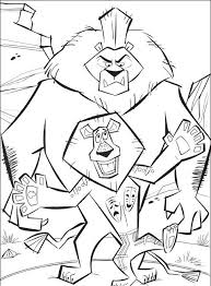 10 coloring pages 24 madagaskar images