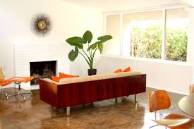Mid Century Modern Style Sofa by Spectacular Interior Mid Century Homes Designs With White Wall