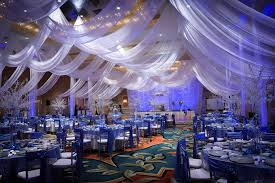 modern concept wedding reception decor with photos of wedding