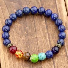 prayer bracelet images Lapis lazuli 7 chakra gemstone bead buddhist prayer bracelet hot jpg