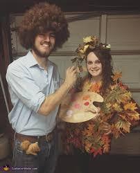 Tree Halloween Costumes Bob Ross Happy Tree Couple U0027s Halloween Costume