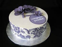bridal shower cakes purple damask and anemone buttercream bridal shower cake the
