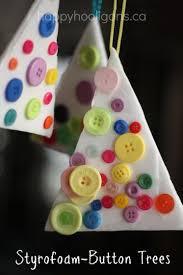 easy styrofoam button ornaments happy hooligans